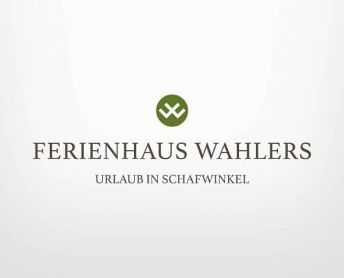 Logodesign für die Ferienhäuser Wahlers
