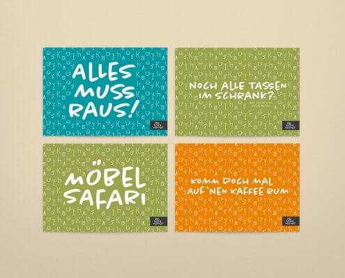 Postkarten Gestaltung für das Kaufhaus Hemelingen