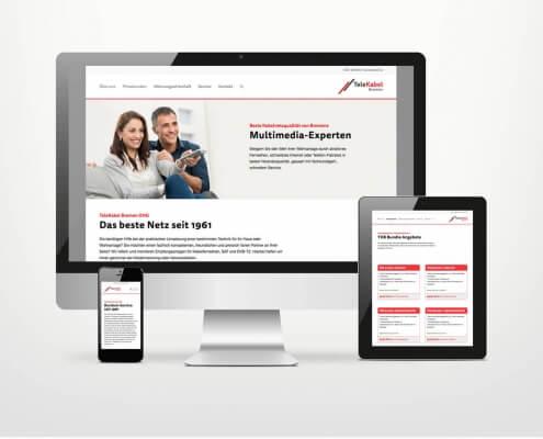 Responsive Webdesign für TeleKabel Bremen