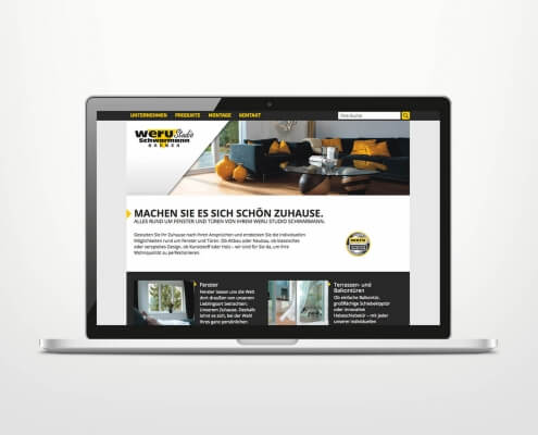 Responsive Webdesign für WERU Schwarmann
